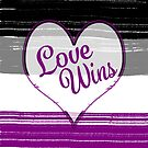 Asexual Pride-Love Wins Design Art Print by PurposelyDesign