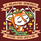Zero Fox To Give by harebrained