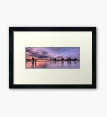 Lavender Blue - Moods Of A City -The HDR Experience Framed Print