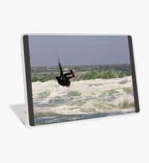 Kitesurfing in the Ocean - Going Airborne Laptop Skin