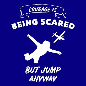 Skydiver - first parachute jump by Juttas-Shirts