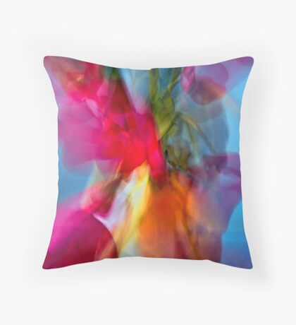 Poppies in Vase Throw Pillow