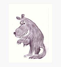 Frightening werwolf Art Print