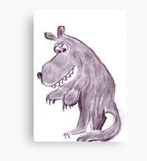 Frightening werwolf Canvas Print