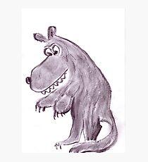 Frightening werwolf Photographic Print