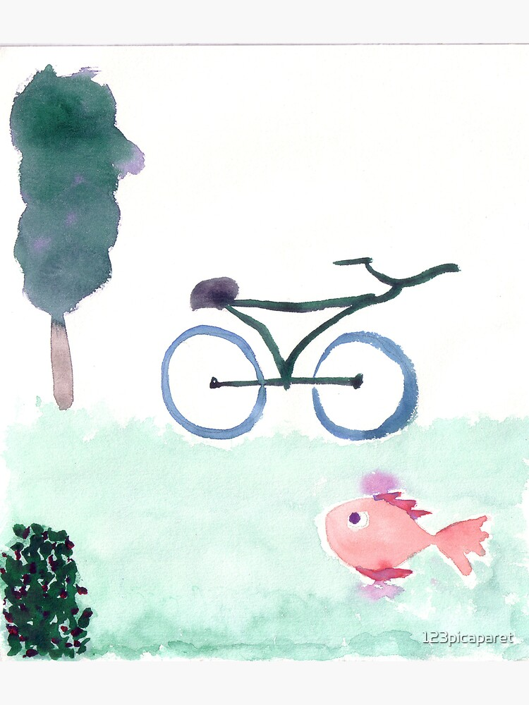 bike & fish by 123picaparet