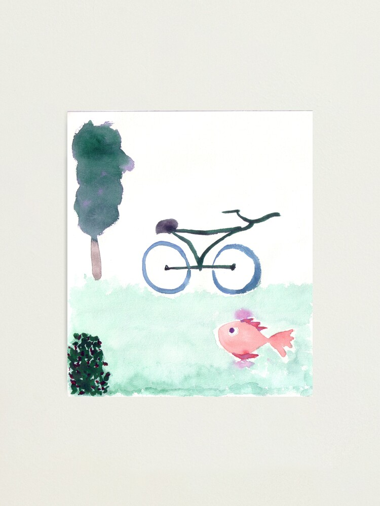 Alternate view of bike & fish Photographic Print