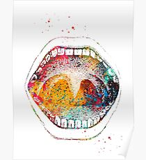 Human mouth Poster