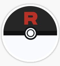 Team Rocket Poke Ball Sticker