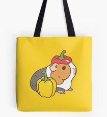 Bell pepper, cherry tomatoes and Guinea pigs pattern  Tote Bag