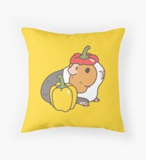 Bell pepper, cherry tomatoes and Guinea pigs pattern  Throw Pillow