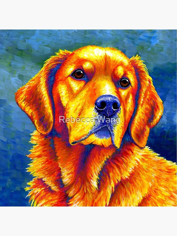 Faithful Friend - Colorful Golden Retriever Dog by lioncrusher