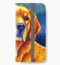 Colorful Golden Retriever Dog Portrait iPhone Wallet/Case/Skin