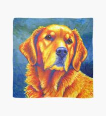 Colorful Golden Retriever Dog Portrait Scarf