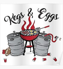 Kegs and Eggs tailgating season Poster