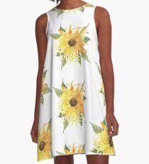 Sunny Sunflower A-Line Dress