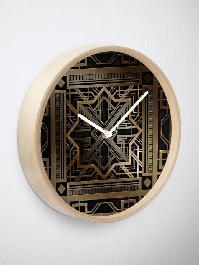 Alternative Ansicht von Art Deco, Gold, Schwarzes, Vintag, Chic, elegant, Ära 1920, der große Gatsby, modern, modisch, dekorativ Uhr