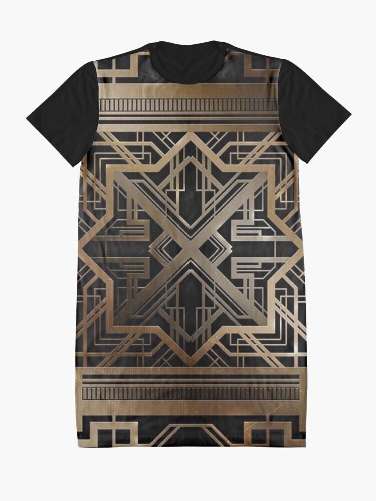 Alternate view of Art deco,gold,black,vintage,chic,elegant,1920 era,The Great Gatsby,modern,trendy,decorative Graphic T-Shirt Dress