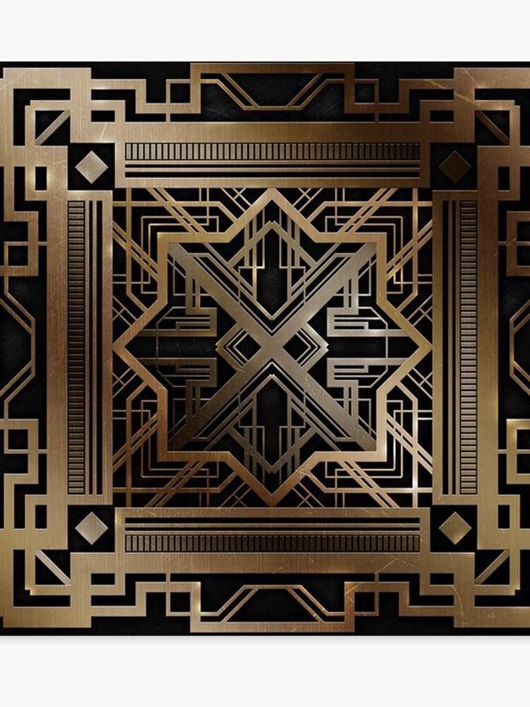 Magnificent Art Deco Gold Black Vintage Chic Elegant 1920 Era The Great Gatsby Modern Trendy Decorative Canvas Print Download Free Architecture Designs Grimeyleaguecom