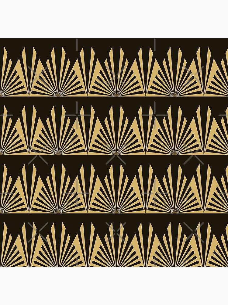 Art Deco, schwarz und Gold, geometrisch, Muster, Weinlese, Chic, 1920 Ära von love999