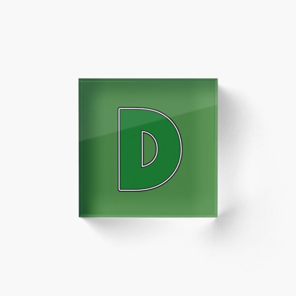Pride! Letters - G (Green) Acrylic Block