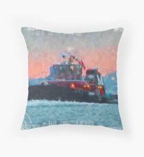 2018 Moran Tug  City Throw Pillow