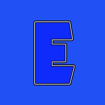 Pride! Letters - E (Blue) by technoqueer