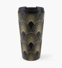 Art deco,gold,black,chic,elegant,1920's,great the Gatsby,pattern Travel Mug