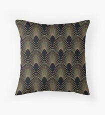 Art deco,gold,black,chic,elegant,1920's,great the Gatsby,pattern Throw Pillow