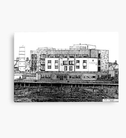 281 - COMMISSIONERS QUAY, BLYTH - DAVE EDWARDS - INK - 2018 Canvas Print