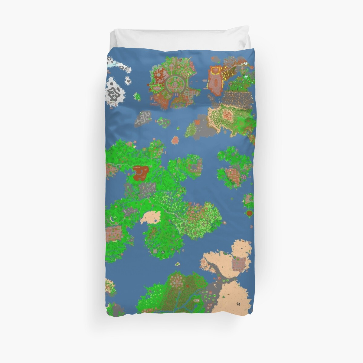 Tibia World Map.Tibia World Map Duvet Covers By Arthur Romeu Redbubble