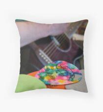Plectrum Mix Throw Pillow