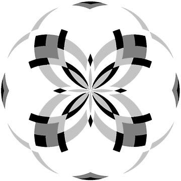 Mandala 16 - Grayscale by Cybarxz