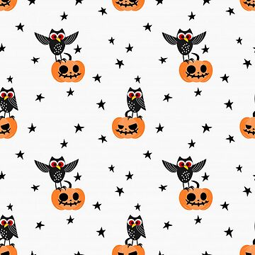 Halloween Pumpkins and Owls by pugmom4