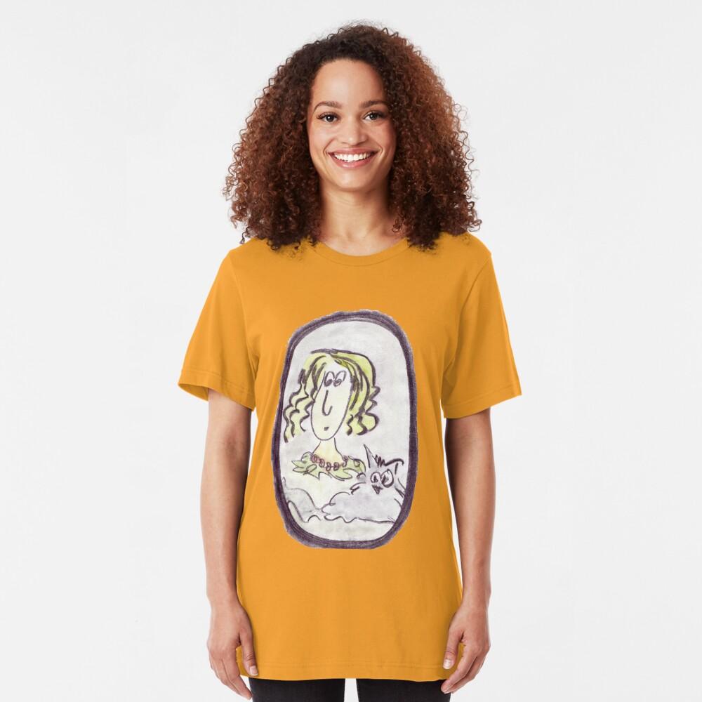 Portrait of a lady Slim Fit T-Shirt