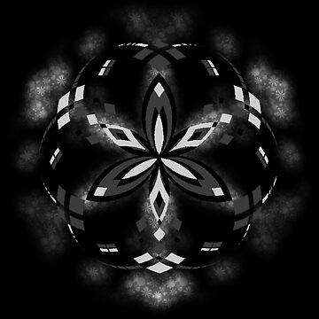 Mandala 03 - Grayscale - Upgraded by Cybarxz