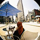 The new New York with parasols and Flat iron by Jean Beaudoin