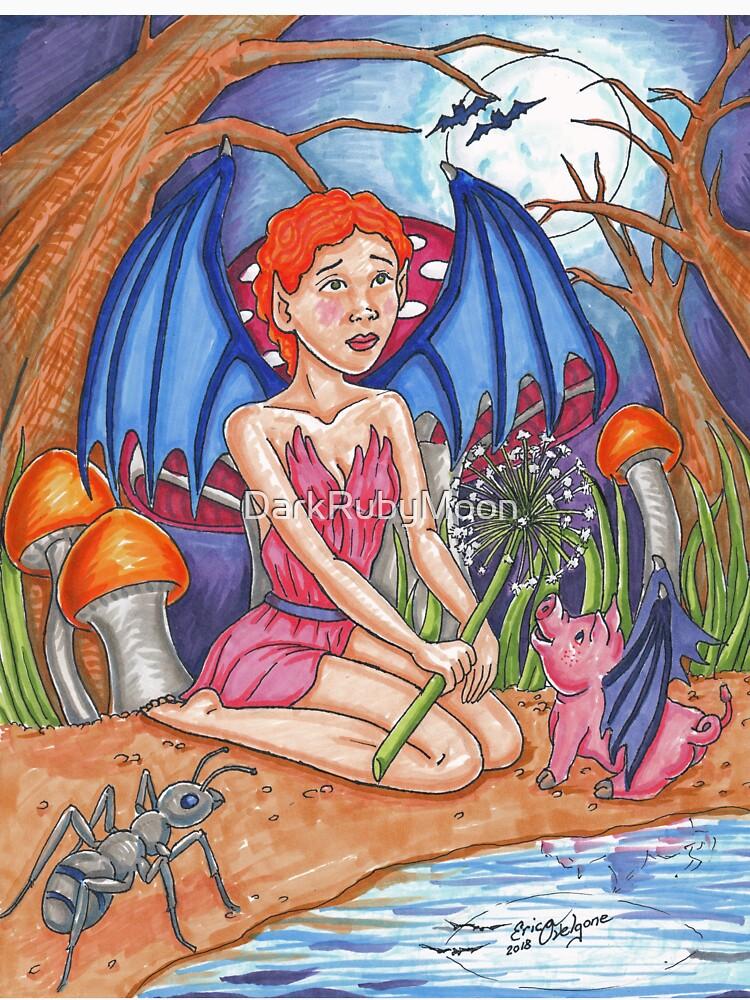 Bat Fairy and Bat Pig by DarkRubyMoon