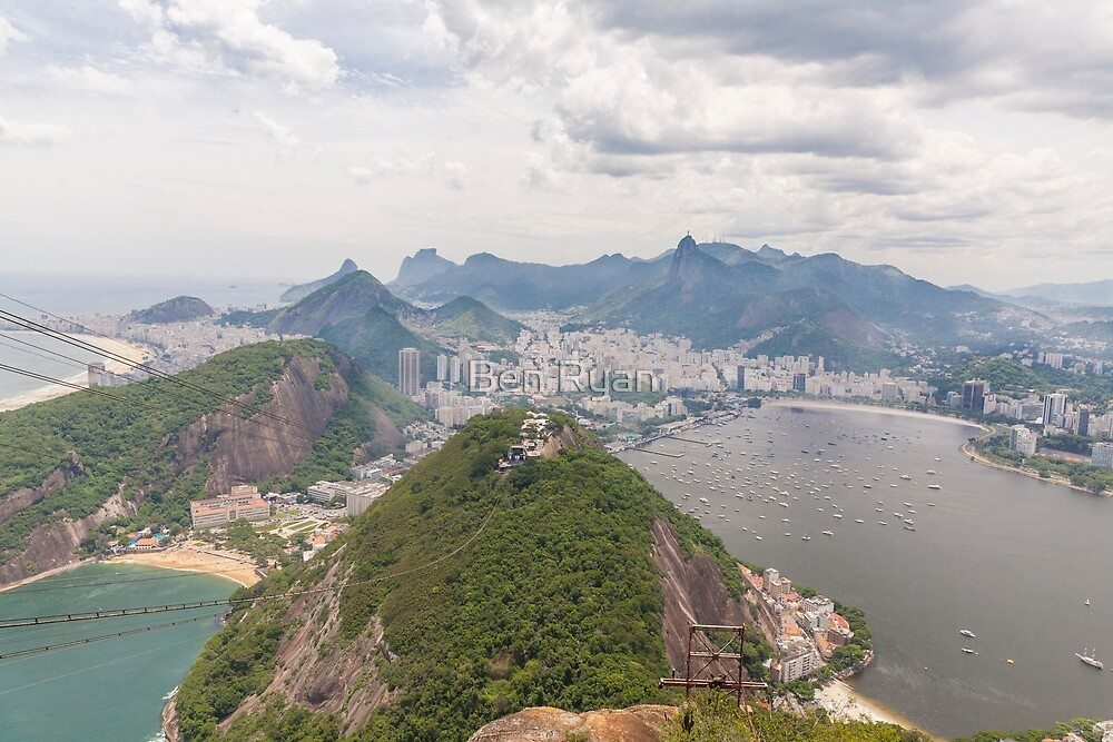Corcovado to Copacabana from Sugarloaf Mountain, Rio, Brazil by Ben Ryan