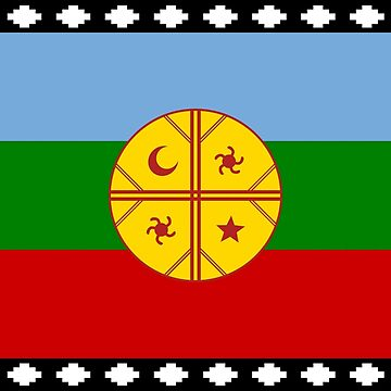 Flag of the Mapuches - Bandera Mapuche by Martstore