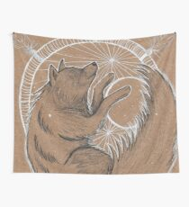 WolfMoon Catcher Wall Tapestry