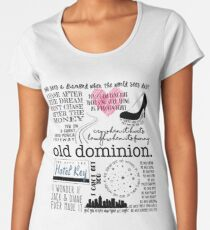 Alte Dominion Lyrics Premium Rundhals-Shirt