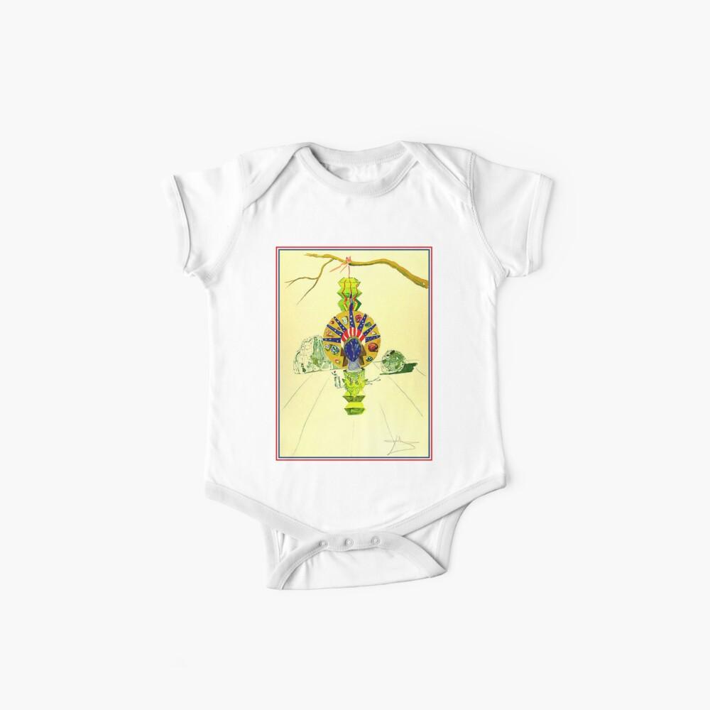 AMERIKANISCHE UHR: Weinlese 1976 abstrakter Dali Liberty Statue Print Baby Bodys