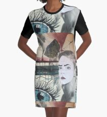 Abstract  Graphic T-Shirt Dress