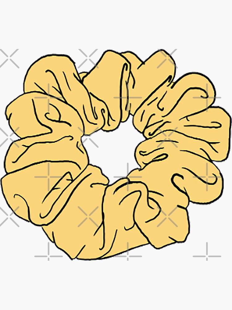 gelbes scrunchie von ncorreia117