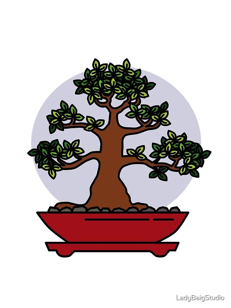 Bonsai Tree - #4 by LadyBaigStudio