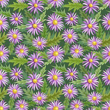 Purple Flowers by pugmom4