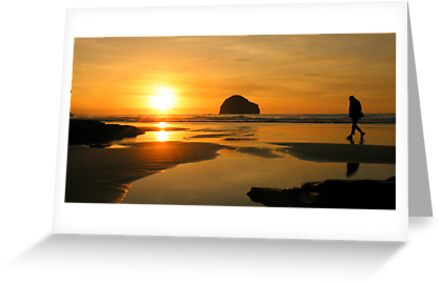 Cornwall: Strolling in the Sunset by Robert Parsons