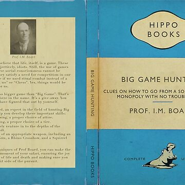 "Hippo Books- Big Game Hunting by ""I.M. Board"" by JungleCrews"