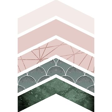 Pink + green Chevrons by UrbanEpiphany